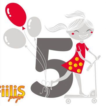 Fiilispaja täyttää 5 vuotta 3.6.2016