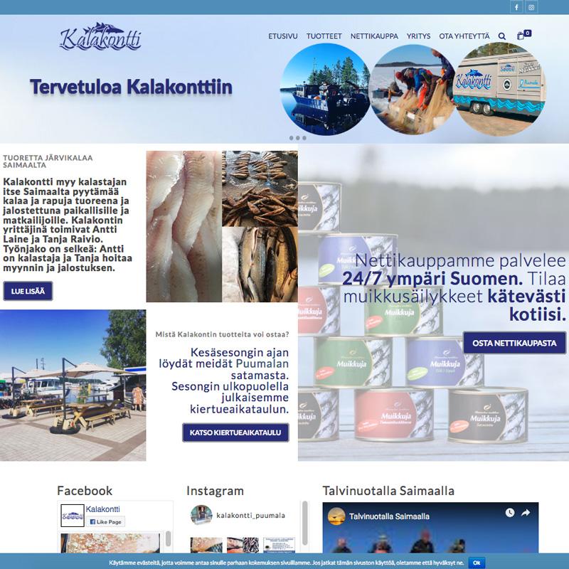 kalakontti.fi nettisivut ja verkkokauppa
